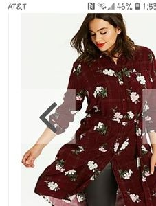 NWT SIMPLY BE FLORAL SHIRT DRESS